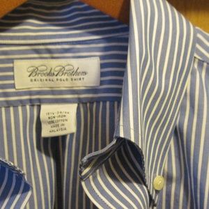 BROOKS BROTHERS non-iron 100% cotton 15.5 - 34/35